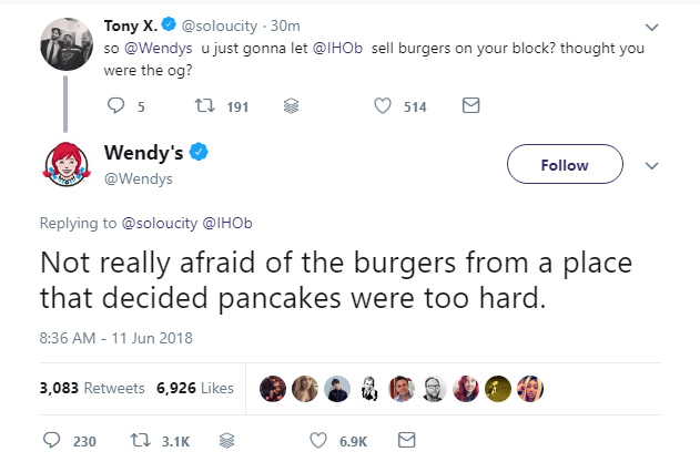 Wendy's vs. IHOP