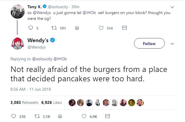 Wendy's vs. IHOP