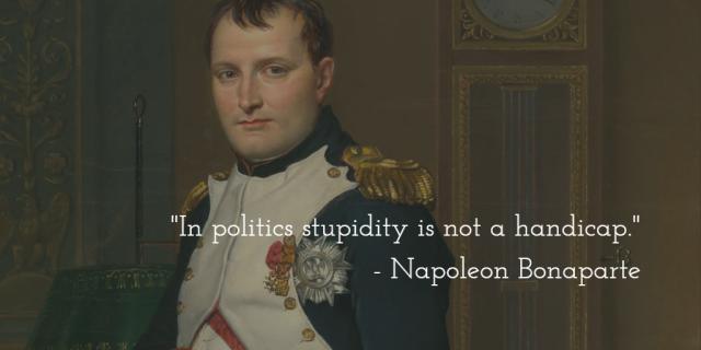 Napoleon on Politics &Stupidity