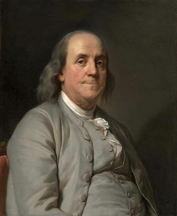 Benjamin Franklin by Joseph Duplessis, 1778