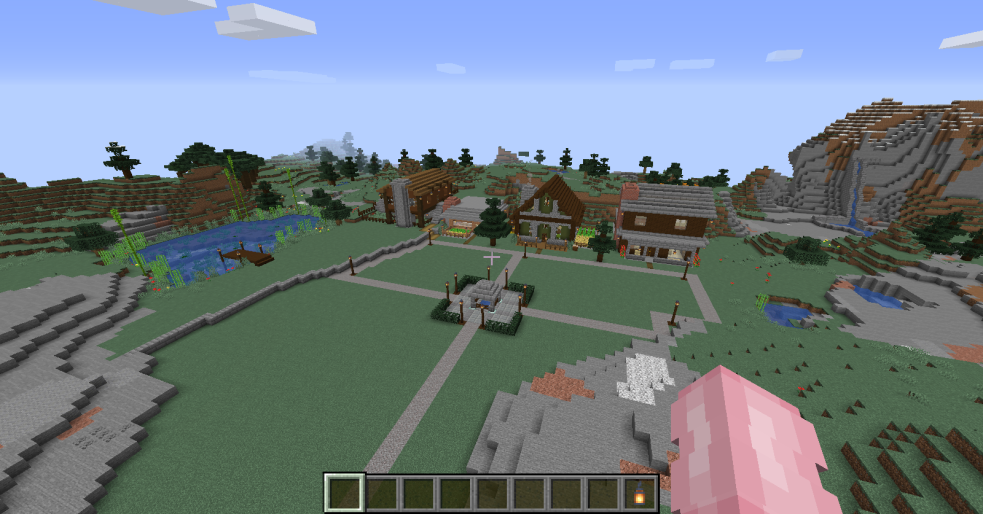 Minecraft: Little mountain village.