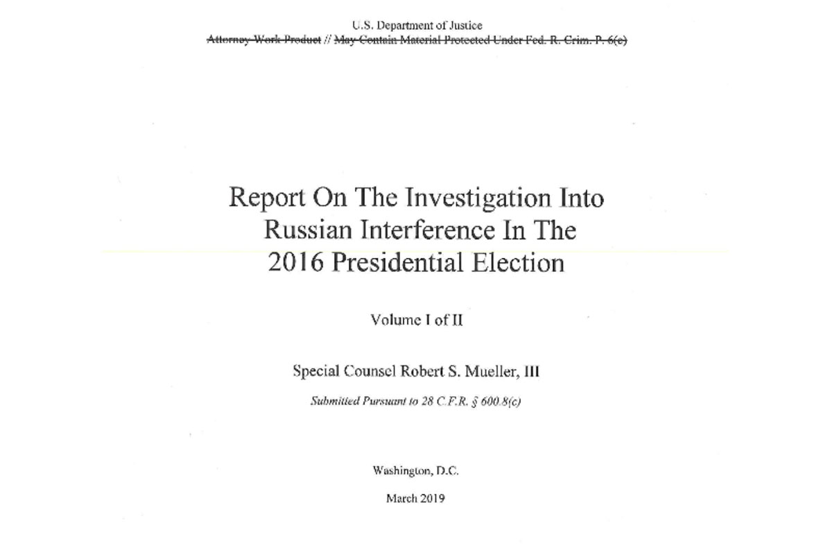 Mueller Report - Redacted