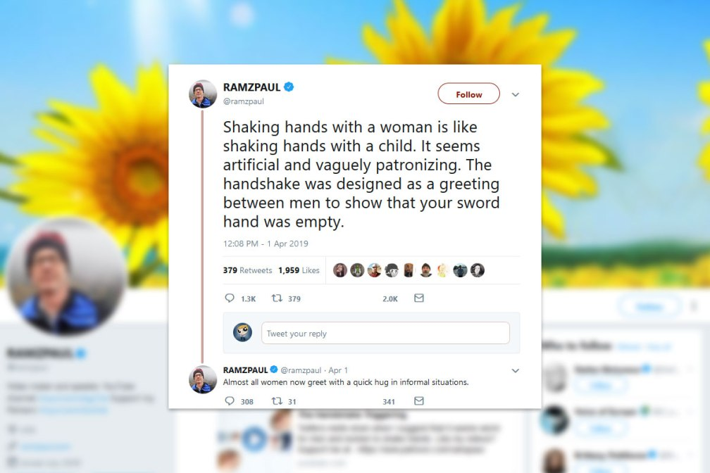 Shaking hands with women