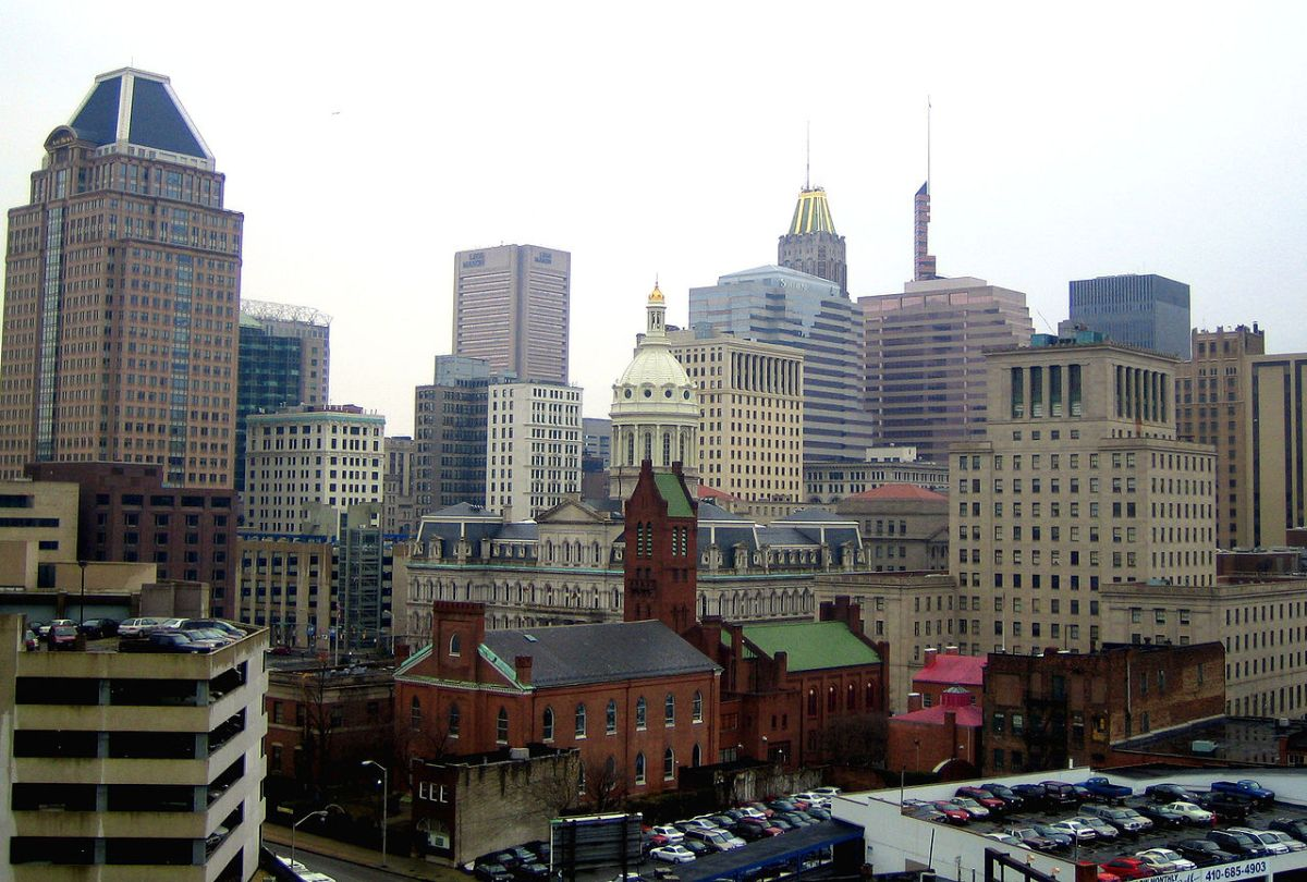 Baltimore City Hall from Northeast