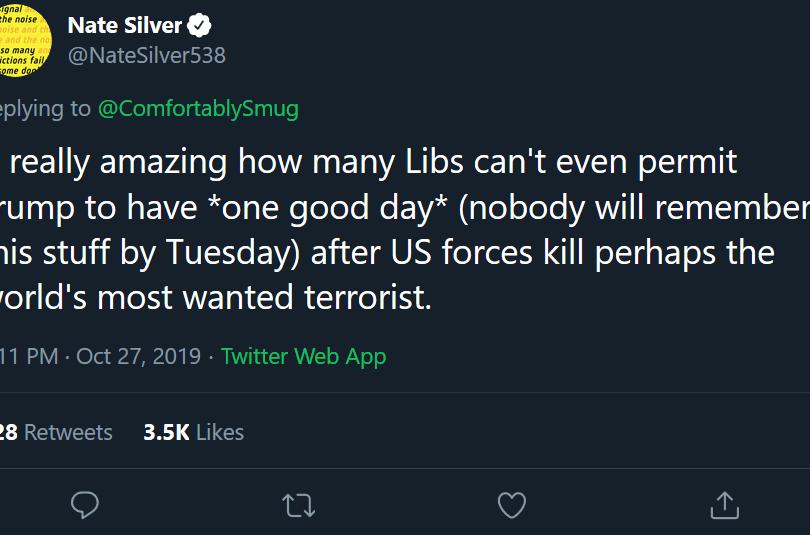 Nate Silver Tweet
