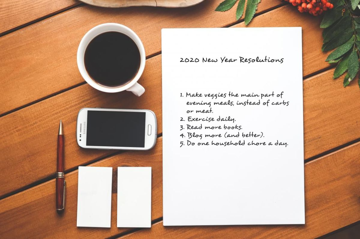 2020 New Year's Resolutions