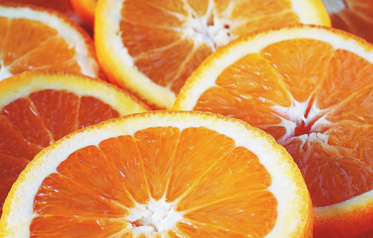 Pexels - A close-up on sliced oranges