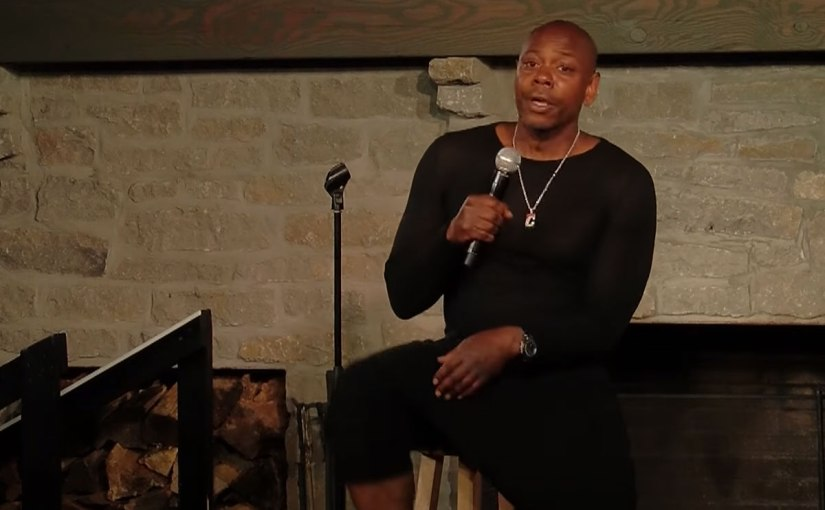 Dave Chappelle - Screenshot from his new comedy special, 8:46