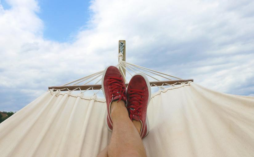 Pexels - Person in a hammock, camera aimed at feet