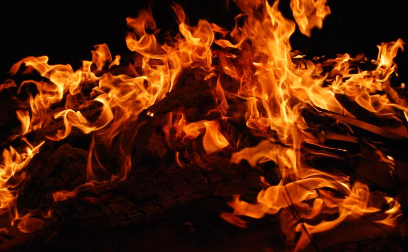 Pexels - Flames on a black background