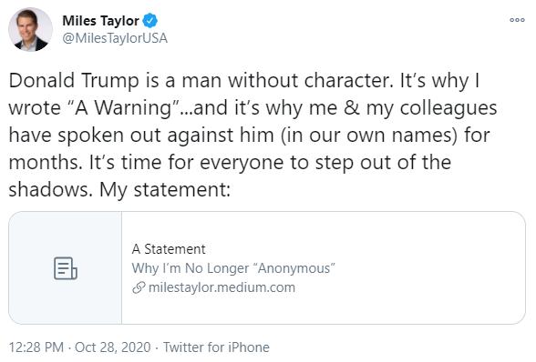 Miles Taylor Tweet