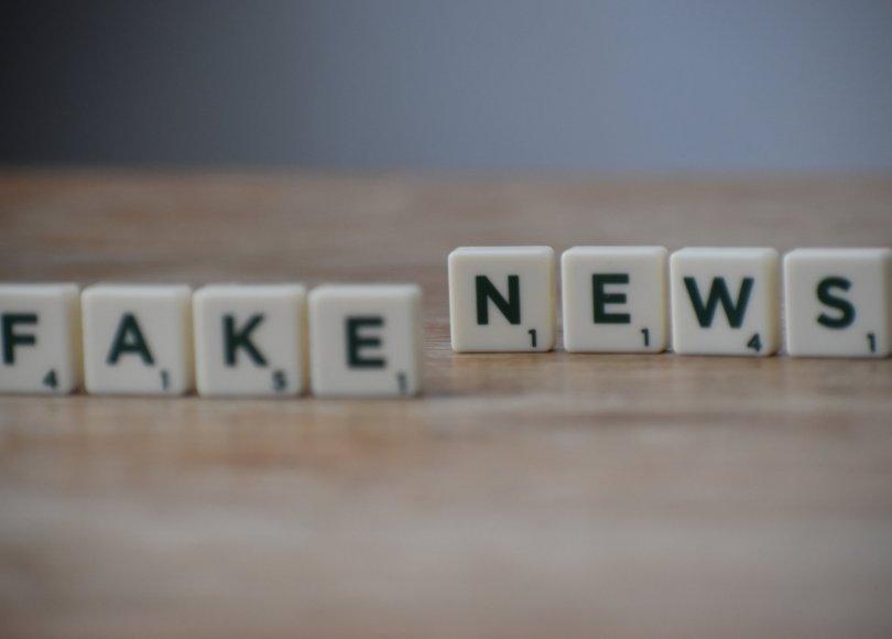Pexels - Scrabble tiles reading 'fake news'