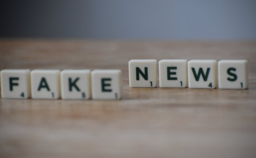 Pexels - Scrabble tiles reading 'fake news'