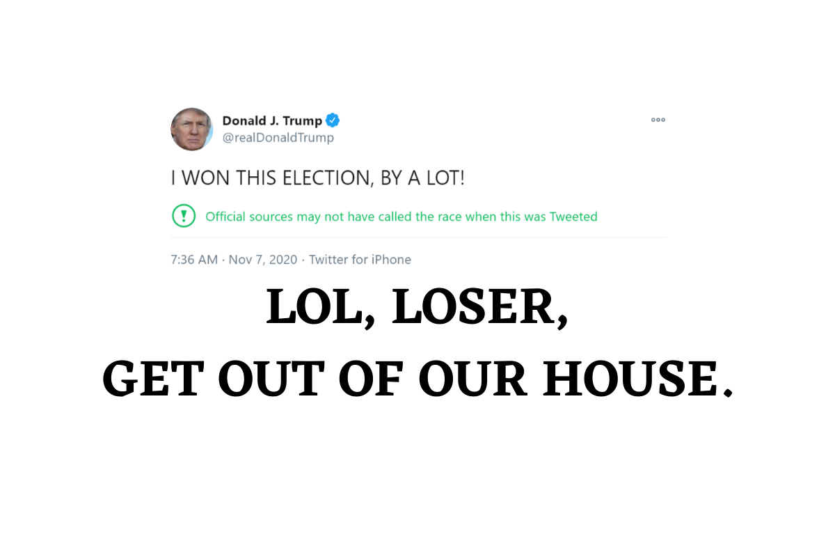 Trump tweet: I WON THIS ELECTION, BY A LOT!