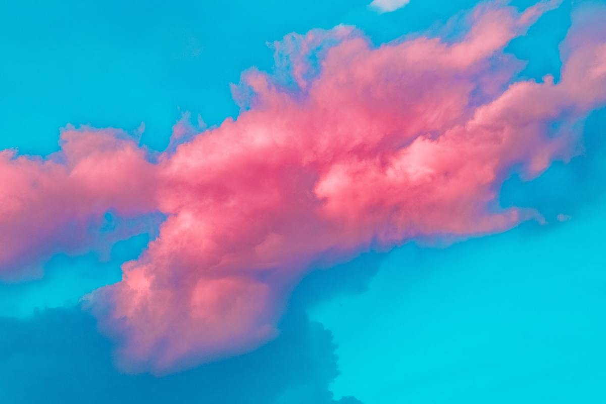 Pexels - Bright pink clouds on a blue sky (for random Thoughts).