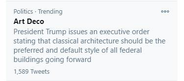 Twitter Trend, Art Deco