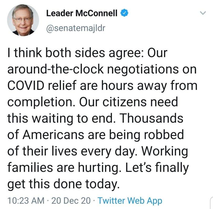 Mitch McConell, tweet