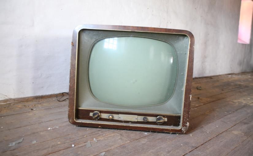 Pexels - An old fashioned boxy vacuum tube TV set.