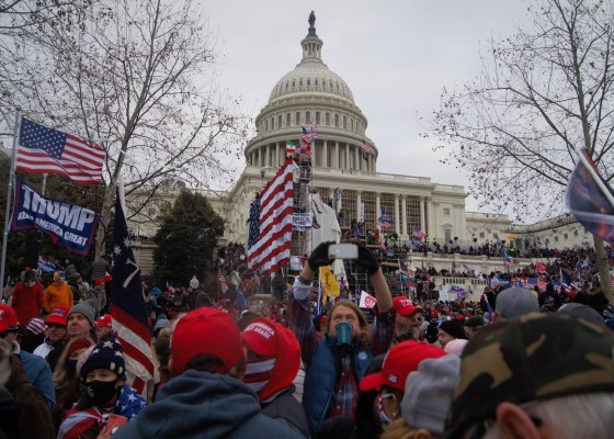 Insurrection at the US Capitol on January 6, 2021, by Tyler Merbler