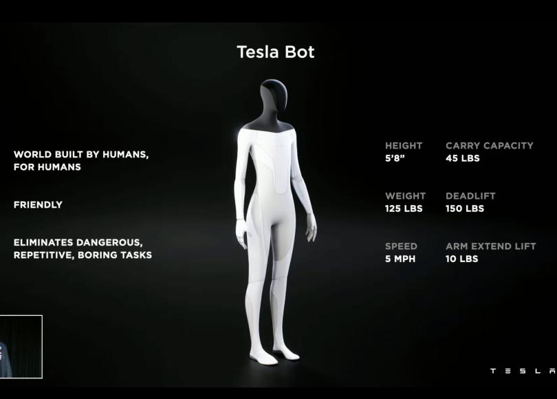 Screenshot from Elon Musk's Teslabot presentation